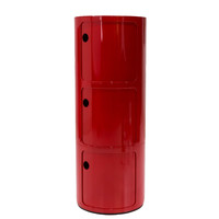 Michael Anthony Furniture Sofie's Room Large Red 3-Compartment Storage Unit