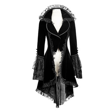New Punk Rave Black gothic jacket Rock cosplay Kera Steampunk Sexy women Coat y2