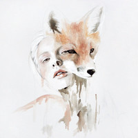 fox Art Print by Jen Mann | Society6