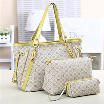 Stylish One Shoulder Bags Ladies Leather Tote Bag [6582944263]