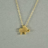 Gold Baby Elephant Necklace, 14K Gold Filled Chain, Simple, Cute, Delicate, Pretty Necklace