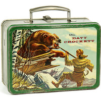 1955 Davy Crockett Lunch Box by Holtemp / Metal Lunchbox / Davy Crocket / Tin Box / Western Decor / Primitive Americana / Tennessee