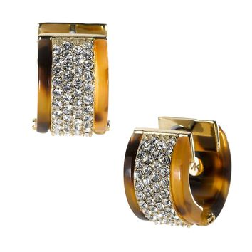 Michael Kors Pave Huggie Earrings, Tortoise