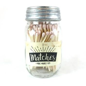 Made Market Co. - Mason Jar Matches | Light Pink