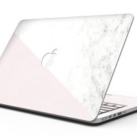 Pale Pink Slanted Marble Surface - MacBook Pro with Retina Display Full-Coverage Skin Kit