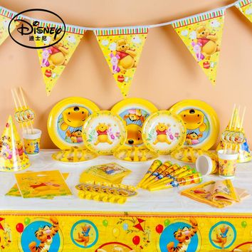 Disney Winnie the Pooh Kids Birthday Party Decoration Set Party Supplies Baby Birthday Party Pack Event Party Supplies