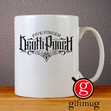 Five Finger Death Punch Logo Ceramic Coffee Mugs