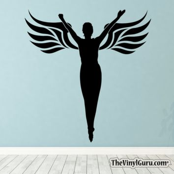 Sexy Angel Pin-Up Girl Wall Decal XVII