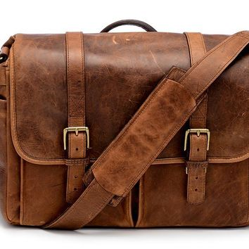 ONA - Leather Brixton Antique Cognac Messenger Bag