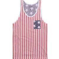 Wellen Independence Tank Top - Mens Tee - Red -