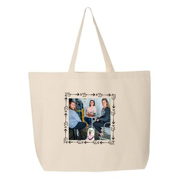 Custom Printed Arrows Photo Frame Tote Bag - Upload Your Photo
