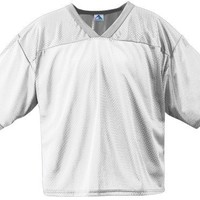Augusta Sportswear 240 Adult's Tricot Mesh Jersey White X-Large
