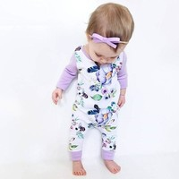 Spring Blooms Lilac Onesuit
