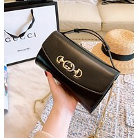 GUCCI High Quality Women Shopping Handbag Leather Shoulder Bag Crossbody Satchel