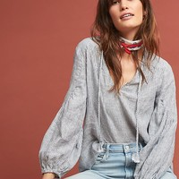 Stacy Linen Peasant Top