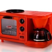 3-in-1 Multifunction Breakfast Deluxe - Red Dorm Room Item College Supplies College Cooking Appliances
