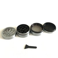 4 levels Mini Herb Grinder Weed Smoke Tobacco Hand Muller for Hookah Shisha Glass Pipe Water Pipe Diameter 40mm Drop Shipping