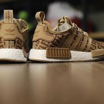 DCK7YE FENDI x Adidas NMD R1 'Brown' Boost Men Women Running Sneaker