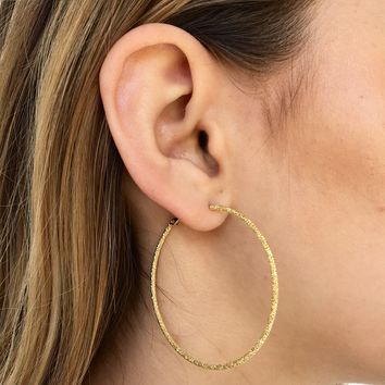 Sparkle & Shine Hoop Earrings in Gold