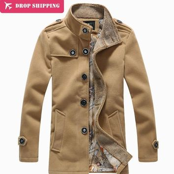 New Arrival Autumn Winter Outerwear Medium Long Overcoat ,men's Casual Trench Coat ,size M-5xl, G2950