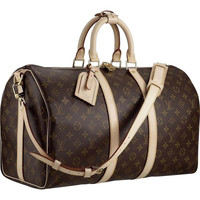 Louis Vuitton Keepall 45 With Shoulder Strap M41418 Travel Women - $209.00