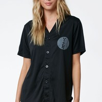 Young & Reckless Varsity Squad Baseball Jersey - Womens Tee - Black