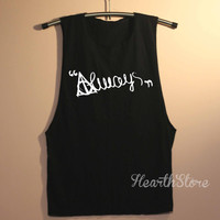 Deathly Hallows Always Shirt Harry Potter Shirts Muscle Tee Muscle Tank Top TShirt Unisex - size S M L