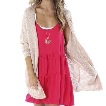 Slub Cardigan Blush