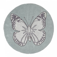 Butterfly Cotton Rug - Vintage Green