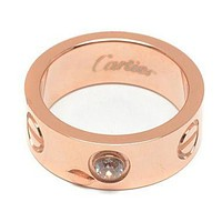 Cartier A wide 18K rose gold ring
