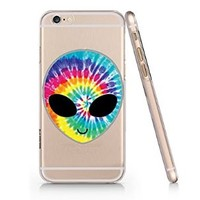 Tie Dye Alien Slim Iphone 6 Case, Clear Iphone 6 Hard Cover Case (For Apple Iphone 6 4.7 Inch Screen)-Emerishop