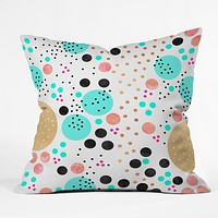 Elisabeth Fredriksson Colorful Champagne Throw Pillow