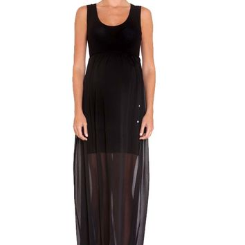 Olian Patti Chiffon Maternity Maxi Dress