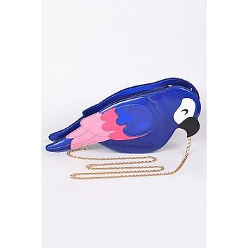 Polly Parrot Purse in Blue