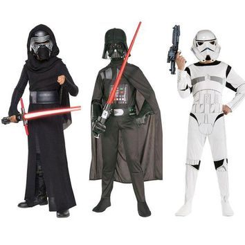 DCCKH6B New Child Boy Deluxe Star Wars The Force Awakens Storm Troopers Cosplay Fancy Dress Kids Halloween Carnival Party Costume S M L