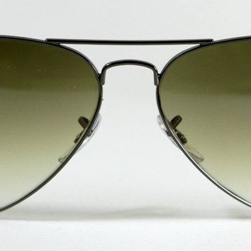 New Genuine Ray Ban 3025 004/51 Dark Silver Gun Metal Aviator Sunglasses 58mm