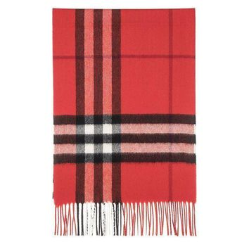 VONE05 Burberry Unisex Classic Check Cashmere Scarf Red