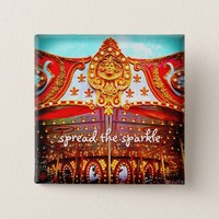 """Spread the sparkle"" carousel gold face photo Button"
