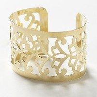 Polished Filigree Cuff by Anthropologie Gold One Size Jewelry
