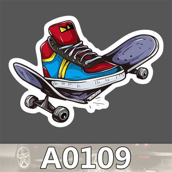 Fashion cool girl Snowboard Laptop Luggage Car Fridge DIY Styling Vinyl Decal home decor Stickers 0109-0114