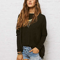 Don't Ask Why Ribbed Light Sweater , True Black