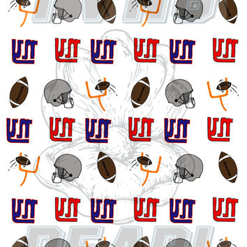 GIANTS FOOTBALL - waterslide nail decals - free shipping U S A - Andy Paerels
