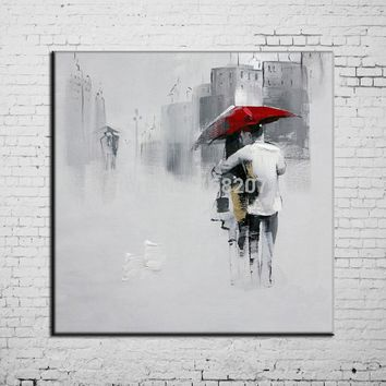 Art Oil Painting High Quality Abstract The Couple I modern Lover No
