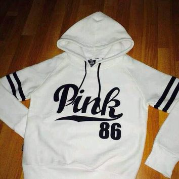 PINK Victoria's Secret Women Top Sweater Hoodie Sweatshirt