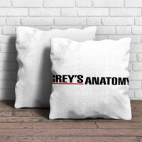 Grey's Anatomy white Pillow | Aneend