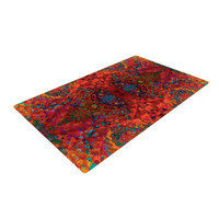 "Nikposium ""Red Sea"" Orange Abstract Woven Area Rug"