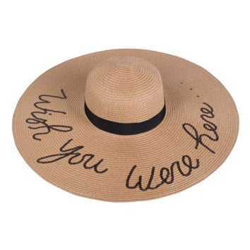 Beach Floppy Hats with Glitter Squins Funny Verbiage