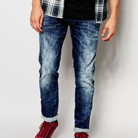 Replay Jeans Anbass Slim Stretch Fit Knitted Dark Acid Wash