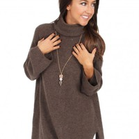 Far From Home Sweater in Brown | Monday Dress Boutique