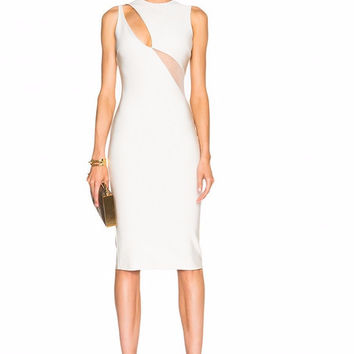 Grace White Cutout Bandage Dress
